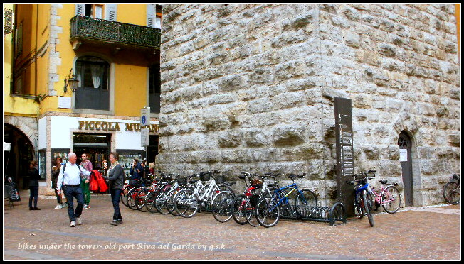bikes under the tower