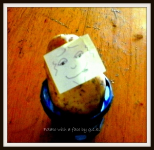 A potato with a face