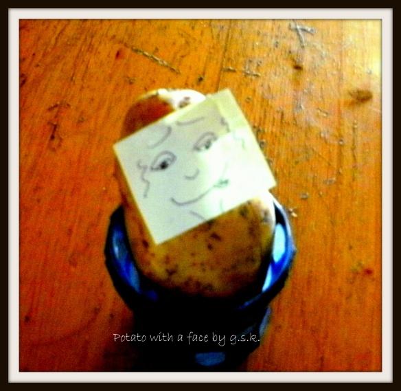 A potato with a face