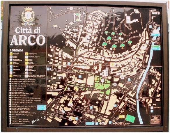 ceramic map of Arco