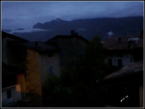 moutains at night