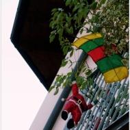 Hang-gliding Santa