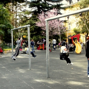 Inside the playground