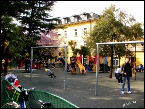 Inside the playground