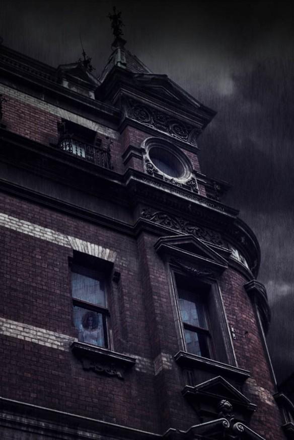 girl-window-old-building-rain