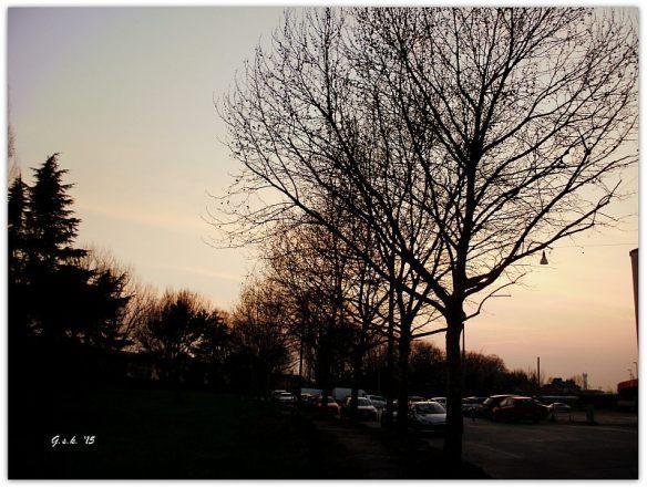 a sunset in padua