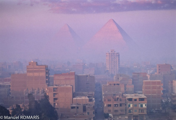Pyramids over Cairo by Manuel Romaris