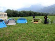 Modern campsite