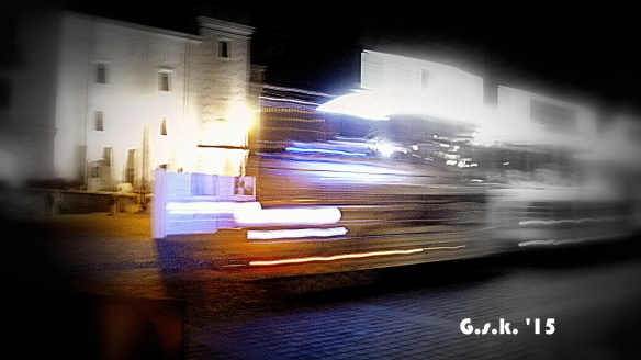 train flashes by