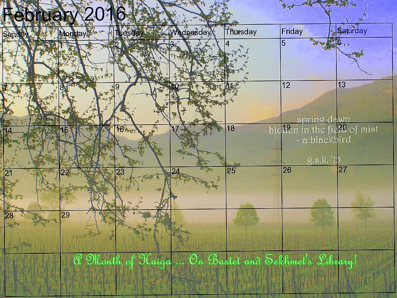 February - A Month of Haiga Event on This Blog